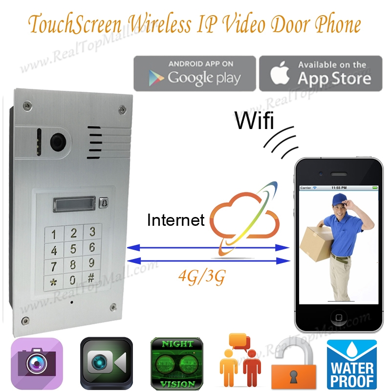 New Touchscreen Wireless Wifi Video door phone doorbell IP Camera Intercom embedded Support IOS Android Smart Phone Tablet детская игрушка new wifi ios