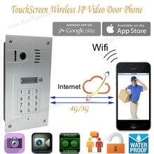 New Touchscreen Wireless Wifi Video font b door b font phone doorbell IP font b Camera