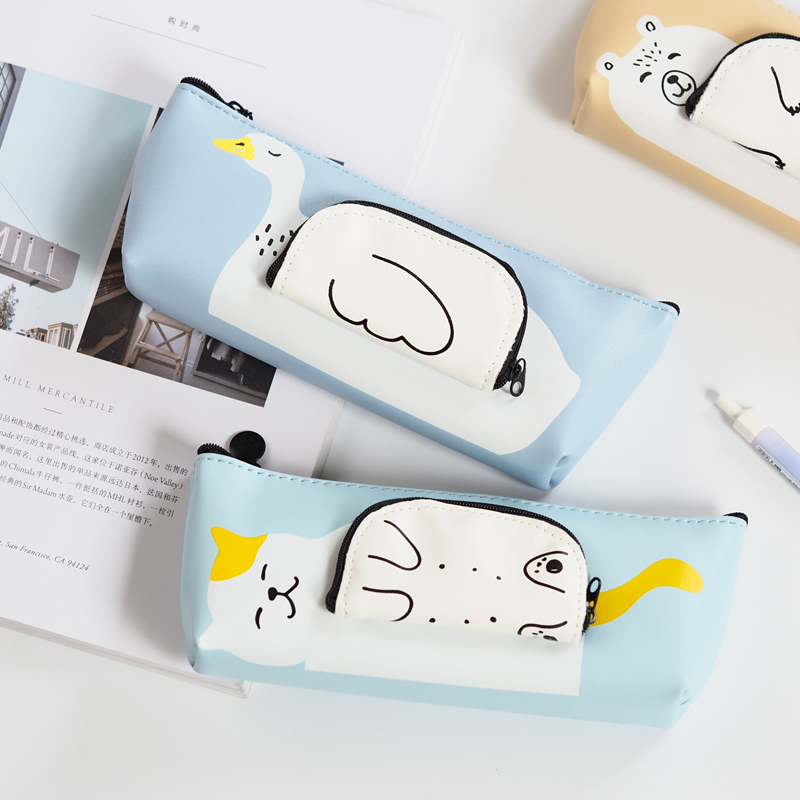 Large Capacity Multifunctional Pencil Case Bag Cartoon Creative Students Pencil Box Zipper Storage School Supplies Gifts PL students simple large capacity pencil bag large capacity creative black and white pencil case school supplies q13