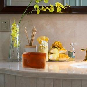 Natürliche Honig Milch Seife Befeuchten Haut Gesichts Reinigen Waschen Gesicht Pore Minimierung Auffüllen Wasser Handgemachte Seife Bad Versorgung