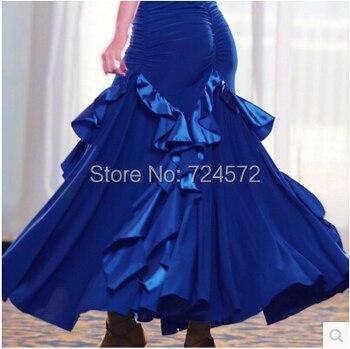 Ballroom dance costume senior Fashion fishtail ballroom dance skirt for women ballroom dance competition skirt 5kinds of colors