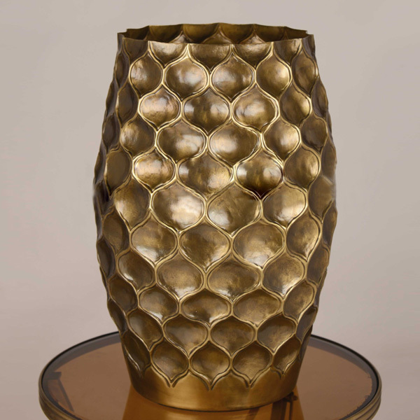 Exquisite European Style 100 Copper Vase Luxury Hand Made Vase