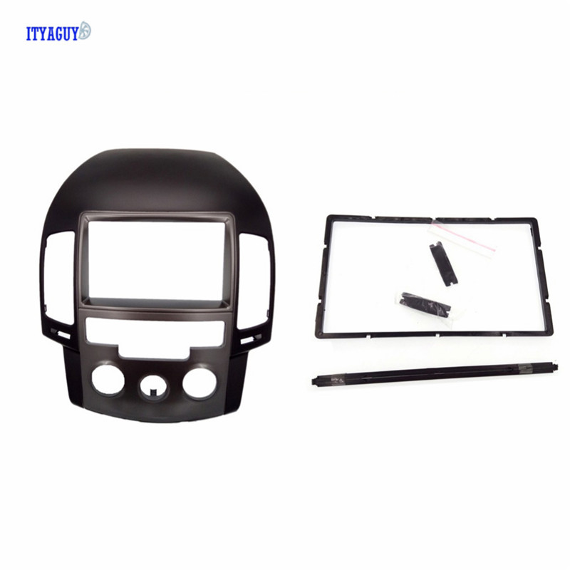 2Din Car Dash Mount Kit Fascia for HYUNDAI i30 i-30 Manual AC Panel Frame Kit Cover Radio AutoStereo Dash Trim Plate Surround