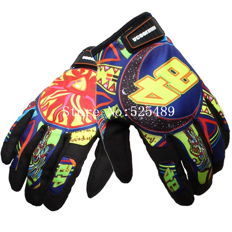 guantes moto luvas da motocicleta Brand Print Motorcycle Gloves Outdoor Motocross Off Road Racing Protective Gloves gants moto