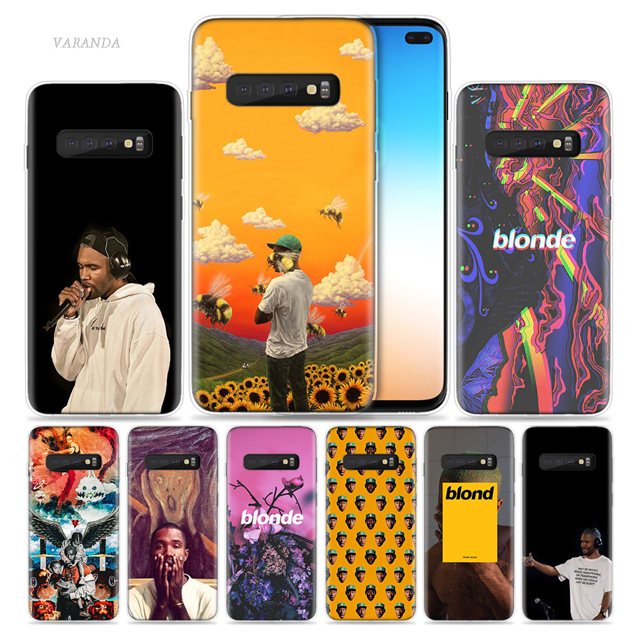 Frank Ocean Blonde Case for Samsung Galaxy S8 S9 S10 5G S10e S7 Note 8 9 J4 J6 Plus J5 J8 2018 J3 Silicone Phone Cover Bags Capa dial vision adjustable lens eyeglasses