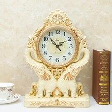 Европейские ретро настольные часы Креативный слон настольные часы для дома гостиной спальни украшения