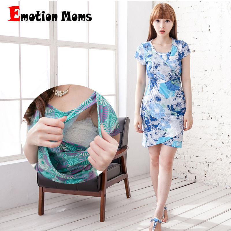 Emotion Moms Maternity Clothes Holiday Party Maternity Dress Nursing Dress -5866