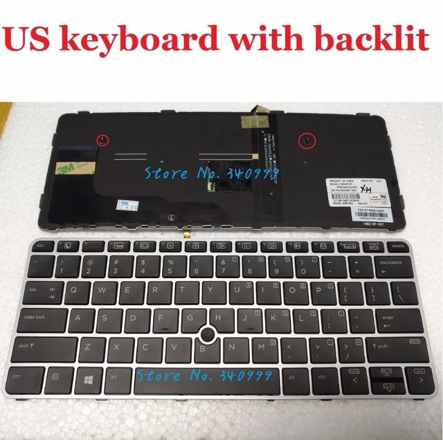 US $27 54 5% OFF|new US Keyboard for HP EliteBook 820 G3 725 G3 US backlit  Keyboard -in Replacement Keyboards from Computer & Office on Aliexpress com