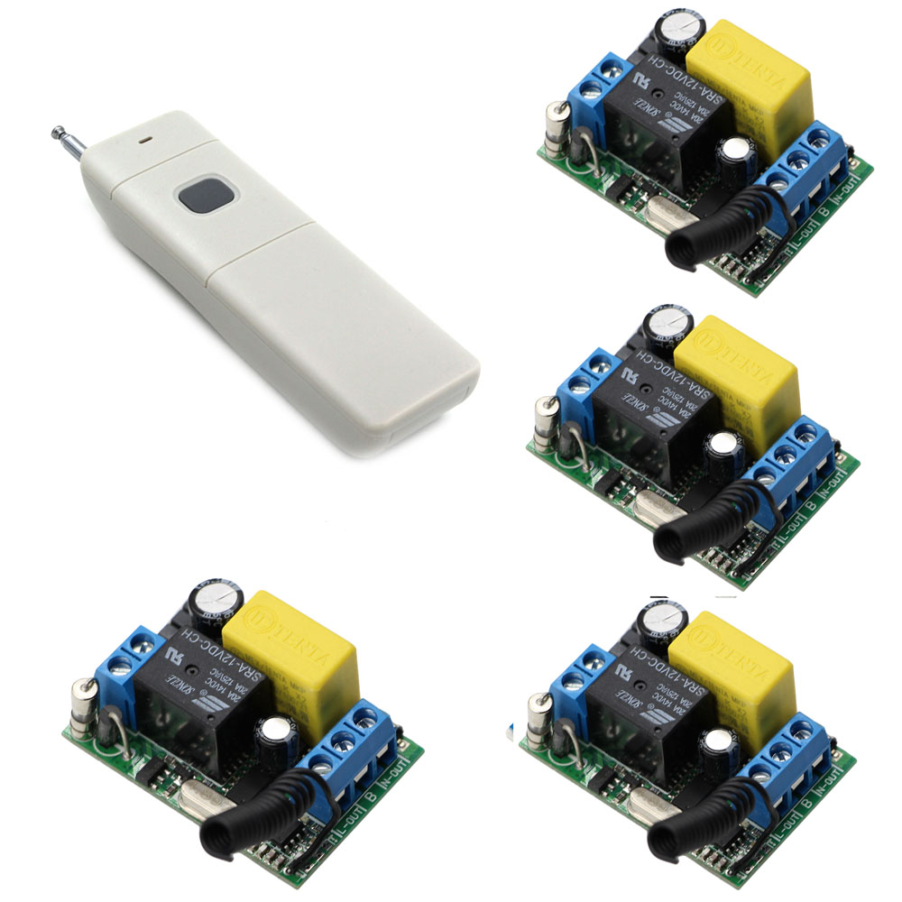 AC 220V Wireless Remote Control Switch 1CH 10A Relay Light Switch Receiver With Remote Transmitter Learning Code 315/433Mhz ac 220v 10a wireless remote control switch 1ch relay receiver module wall transmitter radio light switch fixed code 315 433mhz