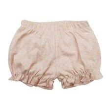 Шорты для маленьких девочек; детские штанишки; однотонная летняя повседневная одежда для детей 6, 9, 12, 18, 24 месяцев