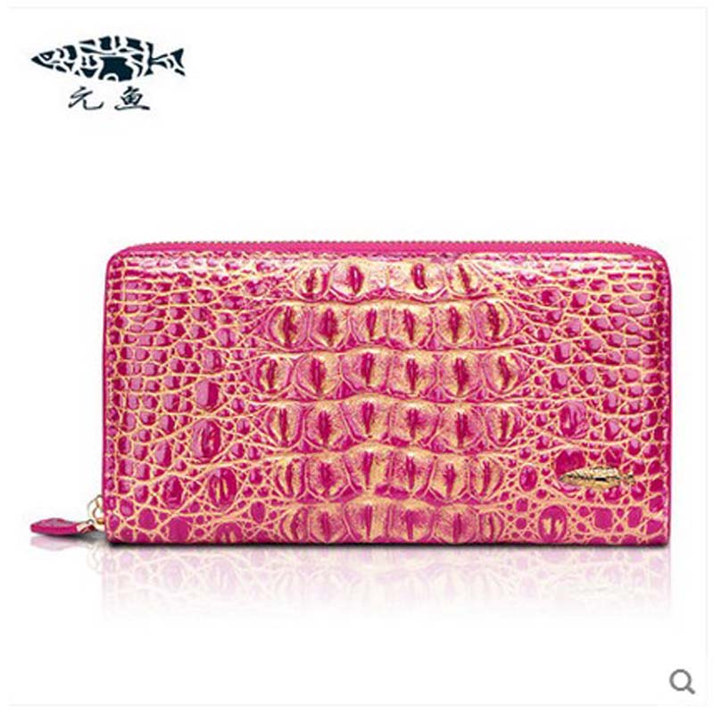 yuanyu 2018 new hot free shipping real crocodile women bag women clutches long purse large capacity women bag yuanyu 2018 new hot free shipping python leather women purse female long women clutches women wallet more screens women wallet