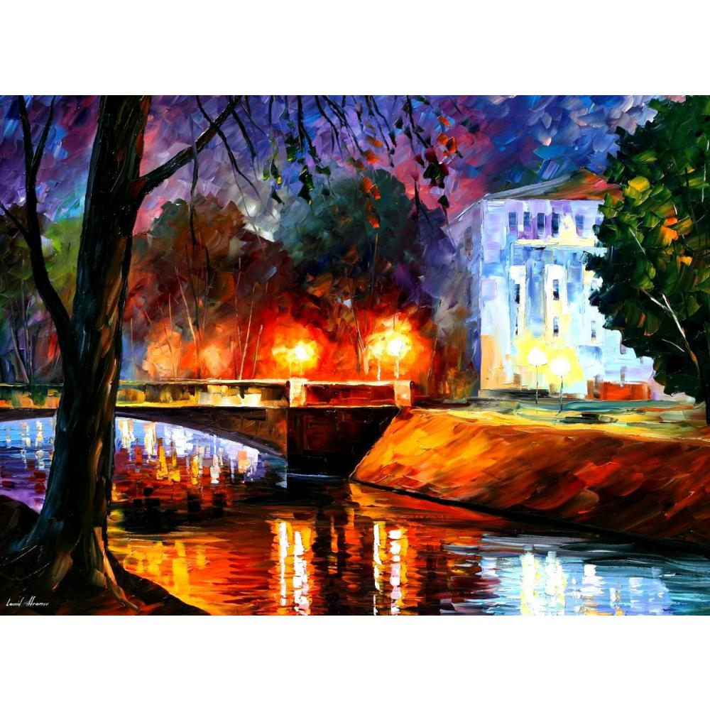 Art contemporain souvenirs du premier amour rue pétersbourg peint à la main couteau peintures paysage huile sur toile de haute qualité