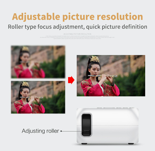 Cheap GIGXON HD 1080P LED Multimedia Projector Home Theater Cinema
