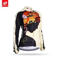 Spor ve Eğlence'ten Bisiklet Formaları'de NUCKILY esneklik nefes bisiklet üstleri kadın uzun kollu bisiklet giyim bisiklet forması GC002
