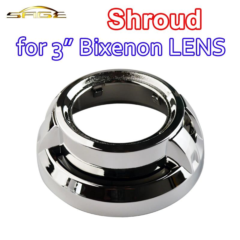 flytop 3 Inch Shroud for HID Bi-Xenon Projector LENS Bi Xenon Car Headlight free shipping dland a4l hid bi xenon projector lens d2s 3 0 inch for bosch