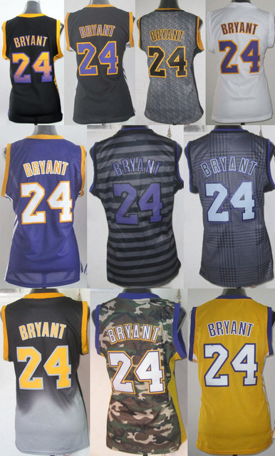 rhsnfo Aliexpress.com : Buy Gril #24 Kobe Bryant Women Jersey Black