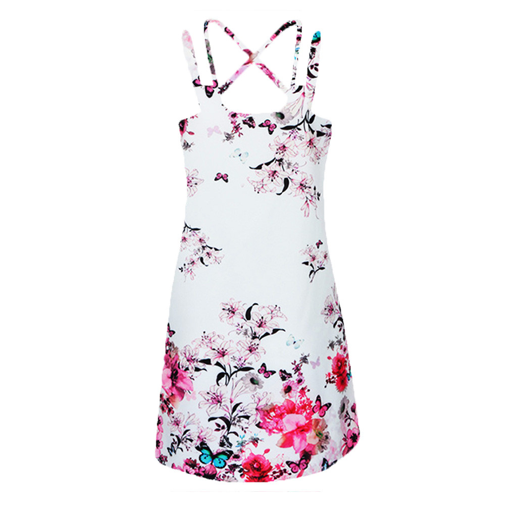 HTB18MqwPrrpK1RjSZTEq6AWAVXaL Vintage Boho Women Summer Dress Sleeveless Beach Flower Printed Short Mini dresses woman party night beach dresses vestidos NEW