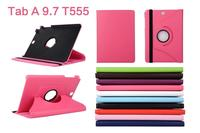 Classic Lichee Patterns 360 Rotary Stand PU Leather Case Cover Skin For Samsung Galaxy Tab A 9.7 T550/P550