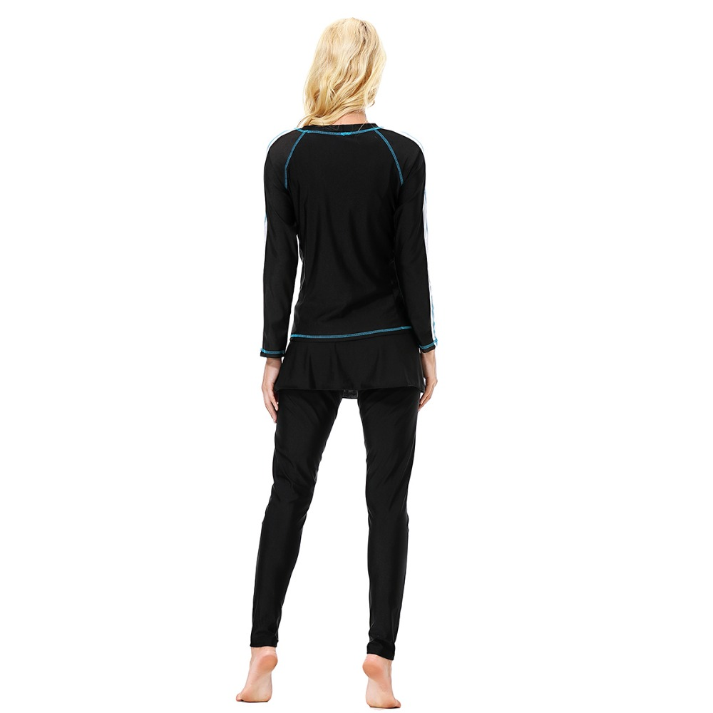 Women Plus Size Floral Muslim Swimwear Hijab  Islamic Swimsuit Swim Surf Wear Sport Burkinis S-3XL