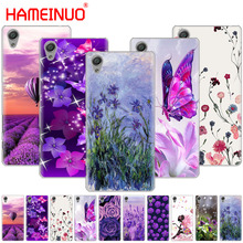 Простой Лавандовый фиолетовый цветочный чехол для телефона для sony xperia C6 XA1 XA2 XA ULTRA X XP L1 L2 X XZ1 compact XR/XZ PREMIUM