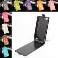 Vodafone Smart Ultra 6 VF995N Case Luxury Hot Stamping Crazy Horse Skins Leather Vertical Flip Protective