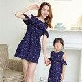 207 vestido de verano a juego de ropa madre e hija madre hija mamá y yo ropa familia mirada de la muchacha y vestido de la madre