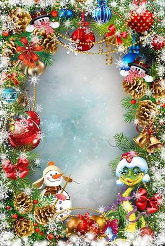 Customize Washable Wrinkle Free Merry Christmas Frame