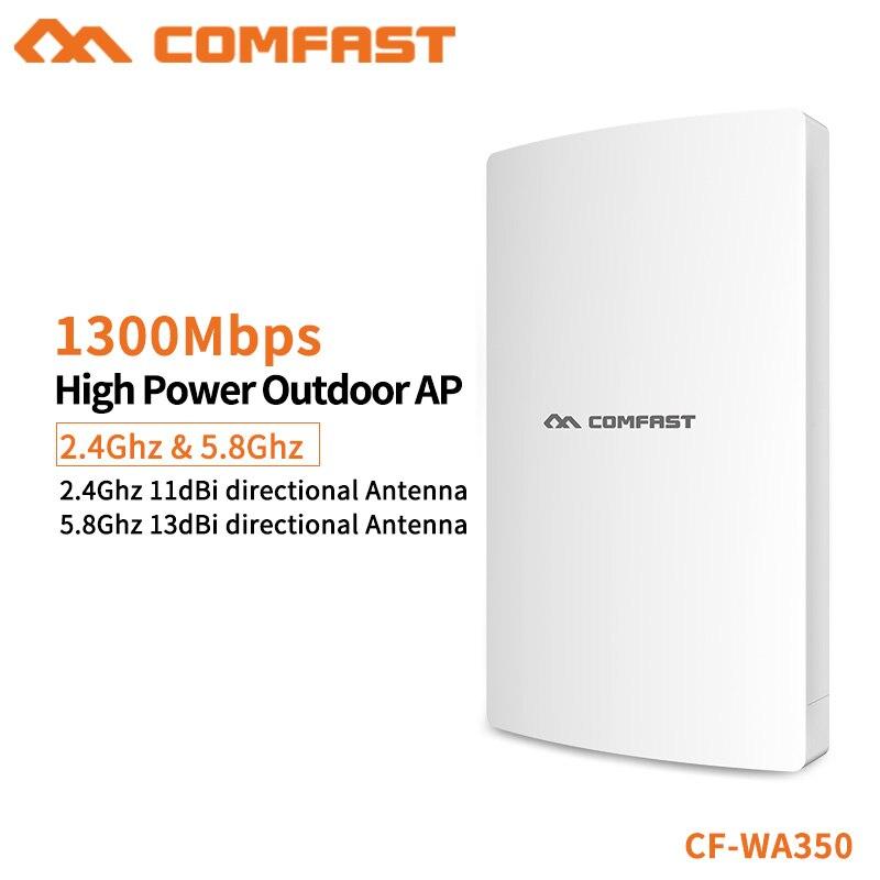 COMFAST 1300 Mbps High Power Outdoor Wifi Repeater Gigabit Draadloze 5G + 2.4G Wifi Range Waterdichte Wifi Router /AP CF WA350-in Draadloze Router van Computer & Kantoor op AliExpress - 11.11_Dubbel 11Vrijgezellendag 1