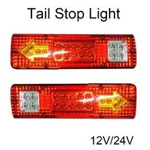1 пара автомобилей 19 светодиодные задние фонари задний стоп фонарь заднего хода грузовик, прицеп, дом на колесах Ван задний фонарь 12-24 В