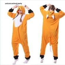 New Adult Cartoon animal  Animal Sleepsuit Pajamas Costume Cosplay Fox Onesie Fancy Dress Hoodies Pyjamas Sleep wear