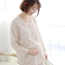 Набор для грудного вскармливания, летняя двойная марля, тонкий домашний костюм для беременных женщин