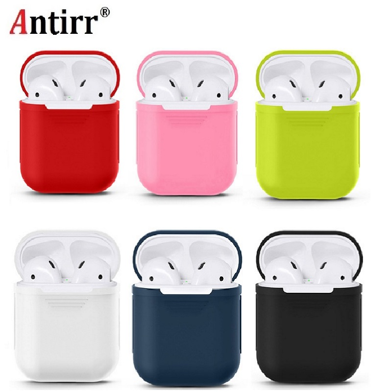 все цены на Earphone Case For Apple Airpods strap Soft Silicone headphone Case Earphone accessories Protective wireless bluetooth Cover онлайн