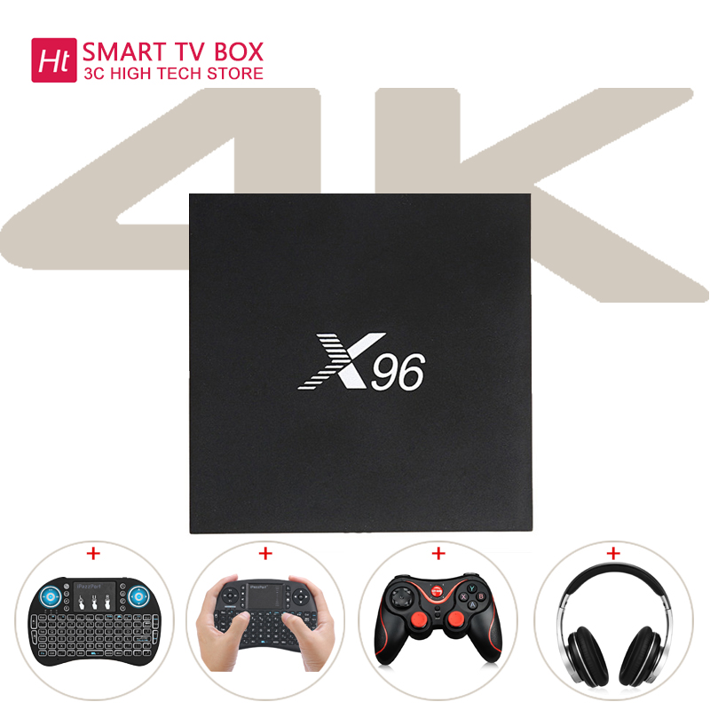 X96 Amlogic S905X Quad Core Android 6.0 TV Box 4 k 2 gb 16 gb 2.4g Wifi Set Top box