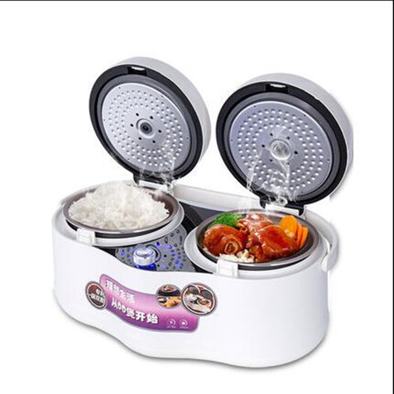 цена на 220V 4L Multifunctional Intelligent Electric Rice Cooker 3 Color Available With 2 Inners Electric Rice Cooker Machine