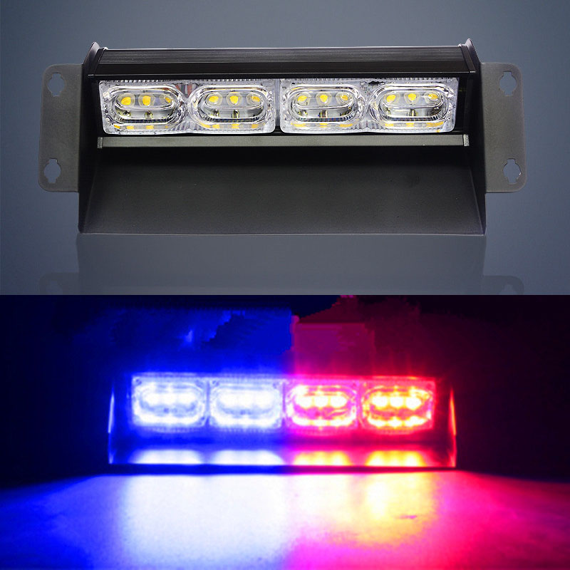 12 LED Car High Power LED Strobe Light Police Lights LED Warning Light Beads Super Bright Front windshield Sucker Shovel Lights free shipping super bright 4 6 led car strobe light high power white
