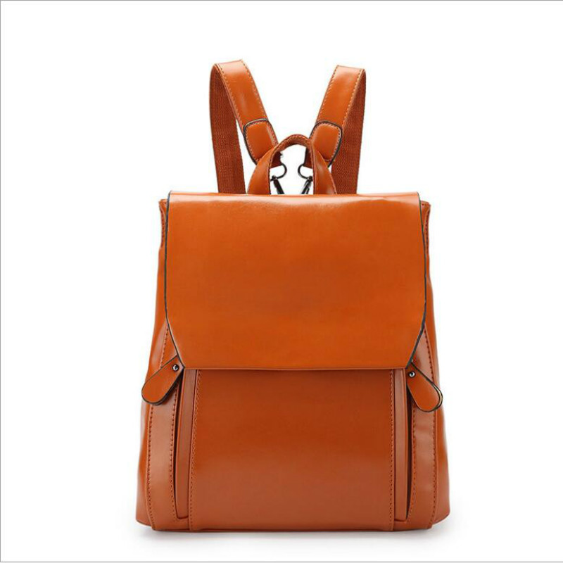 New Women Backpack vintage School Bags leather backpacks bags soft mochilas mulher free shipping