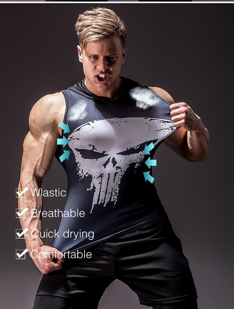 Men's Superhero 3D Printed Tank Top 10