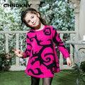 Patrón de suéter de los niños niñas 2016 de la muchacha suéteres niños suéter de invierno para niños estilo casual outwear
