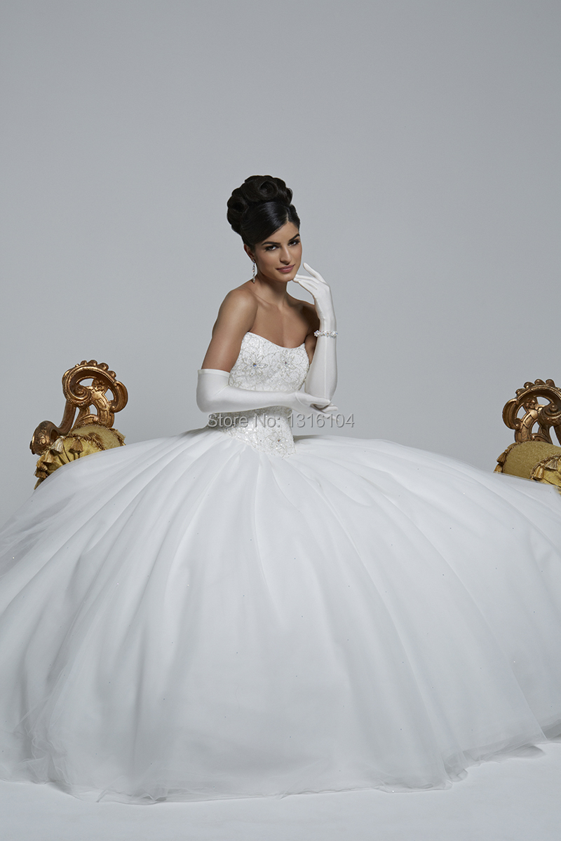 2015 new simple winter white sweetheart ball gown lace for Simple corset wedding dresses