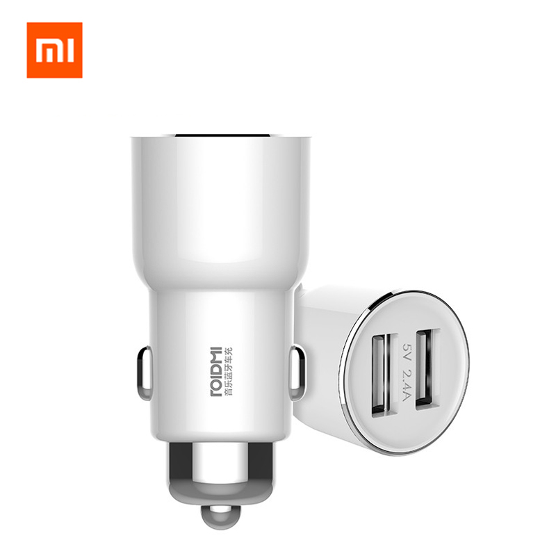 Xiaomi ROIDMI/ROIDMI 3S 5V/3.4A FM Wireless Bluetooth Car USB Charger Music Player With Smart APP For iPhone 7 5S 6 6S & Android image