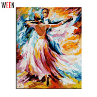 Painting By Numbers DIY Digital Oil Painting Creation Gifts Decoration 40x50cm Dance Party Frameless Pictures Canvas