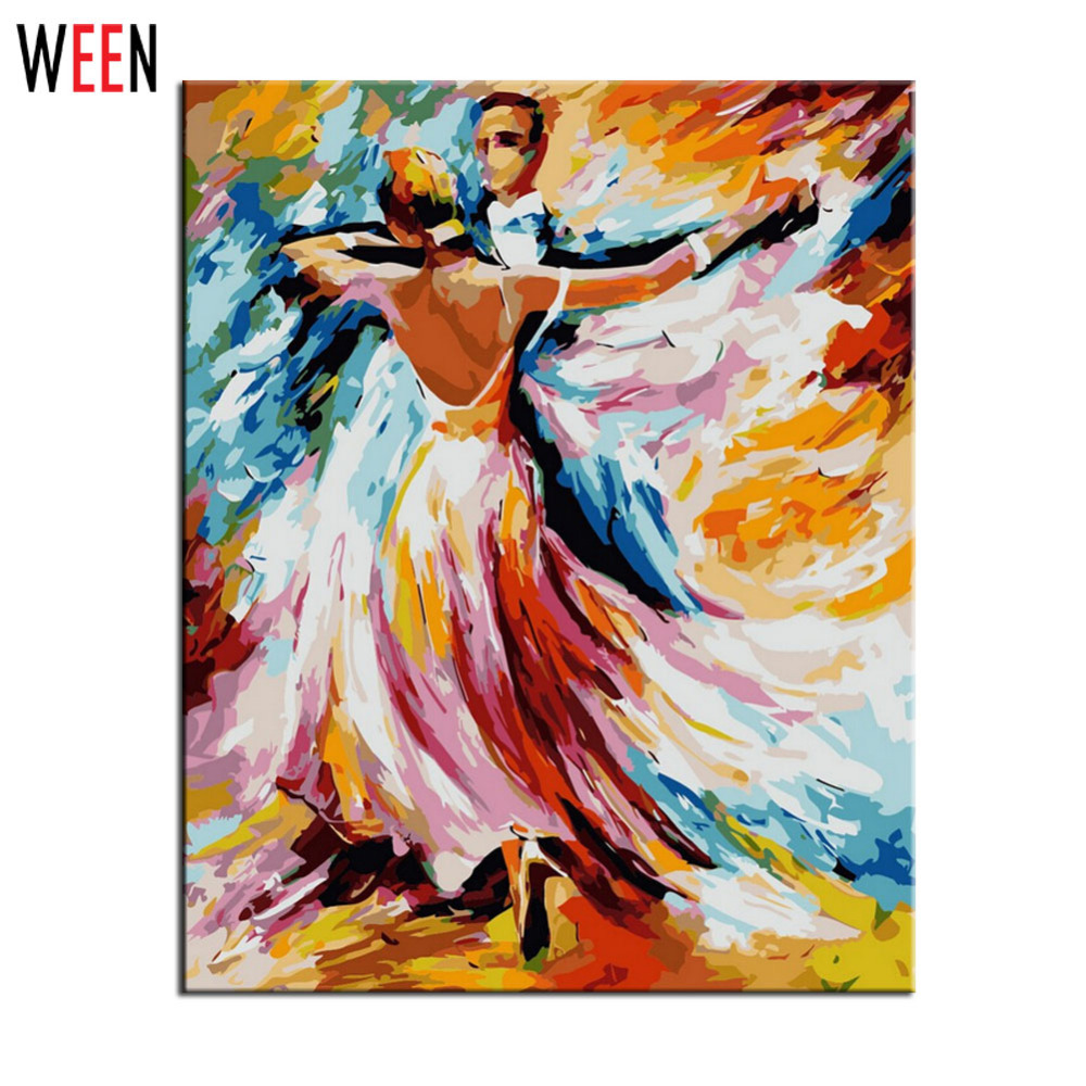 Painting By Numbers DIY Digital Oil Painting Creation Gifts Decoration 40x50cm Dance Party Frameless Pictures Canvas Painting
