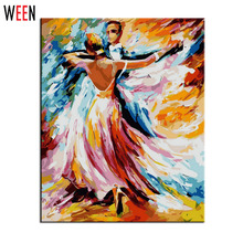 Painting By Numbers DIY Digital Oil Creation Gifts Decoration 40x50cm Dance Party Frameless Pictures Canvas