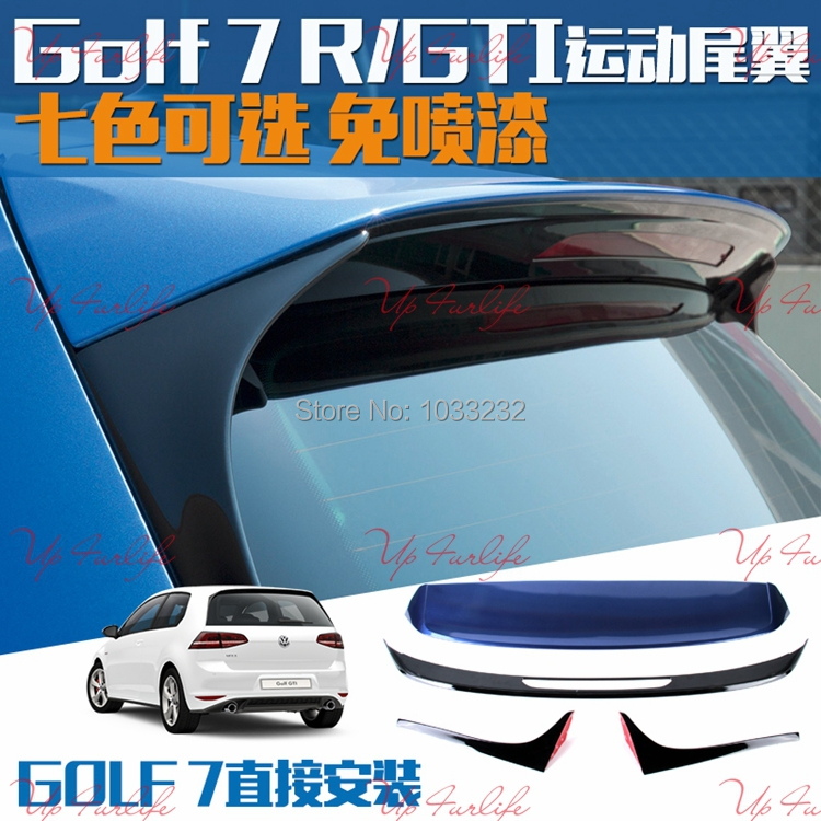 top quality rear wing car spoilers for volkswagen golf 7 r. Black Bedroom Furniture Sets. Home Design Ideas