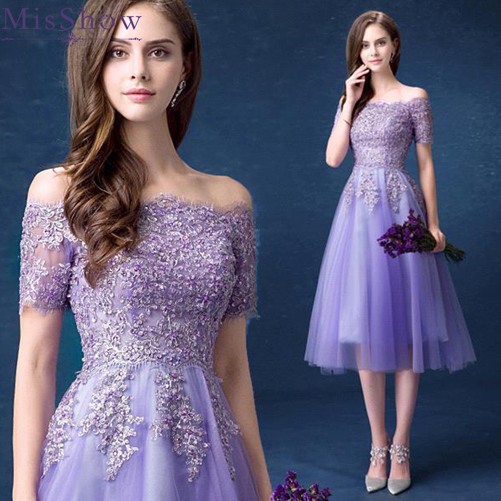 Beaded Dark Purple Homecoming Dresses Short Lilac Cap Sleeve Cocktail Prom Dresses Appliques Tulle Robe Cocktail Courte Year-End Bargain Sale Weddings & Events