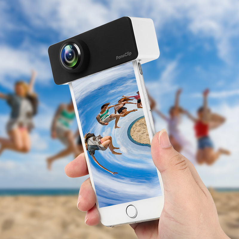 mobile phone lens kit 360 degrees external fisheye and wide angle lens panoclip for iphone7/8 iphone7p/8p iphoneX
