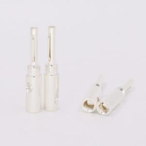 Image 3 - 8pcs/lot High Quality Silver plated Banana plug banana adapter Silver Banana Connectors