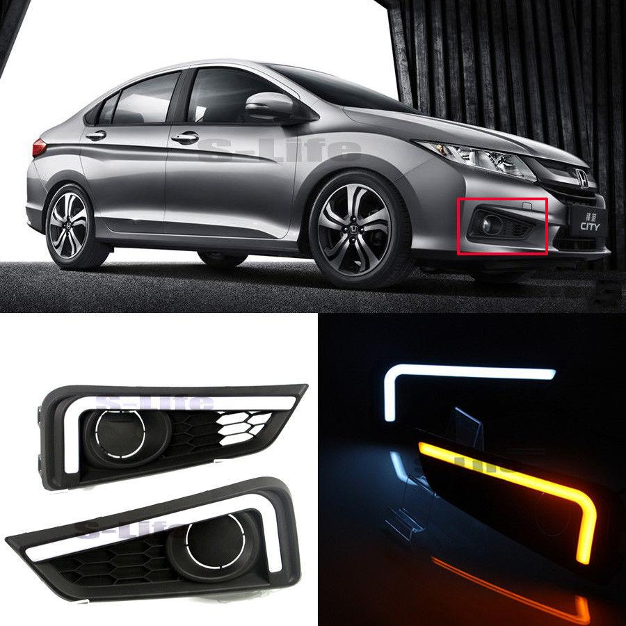 Светодиодные фары дневного света включите свет сигнала для Honda города 2015-2017