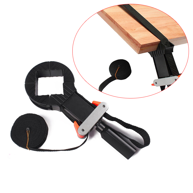 Adjustable Rapid Corner Clamp Strap Band 4 Jaws Corner Clamps for Woodworking Photo Frame Tools