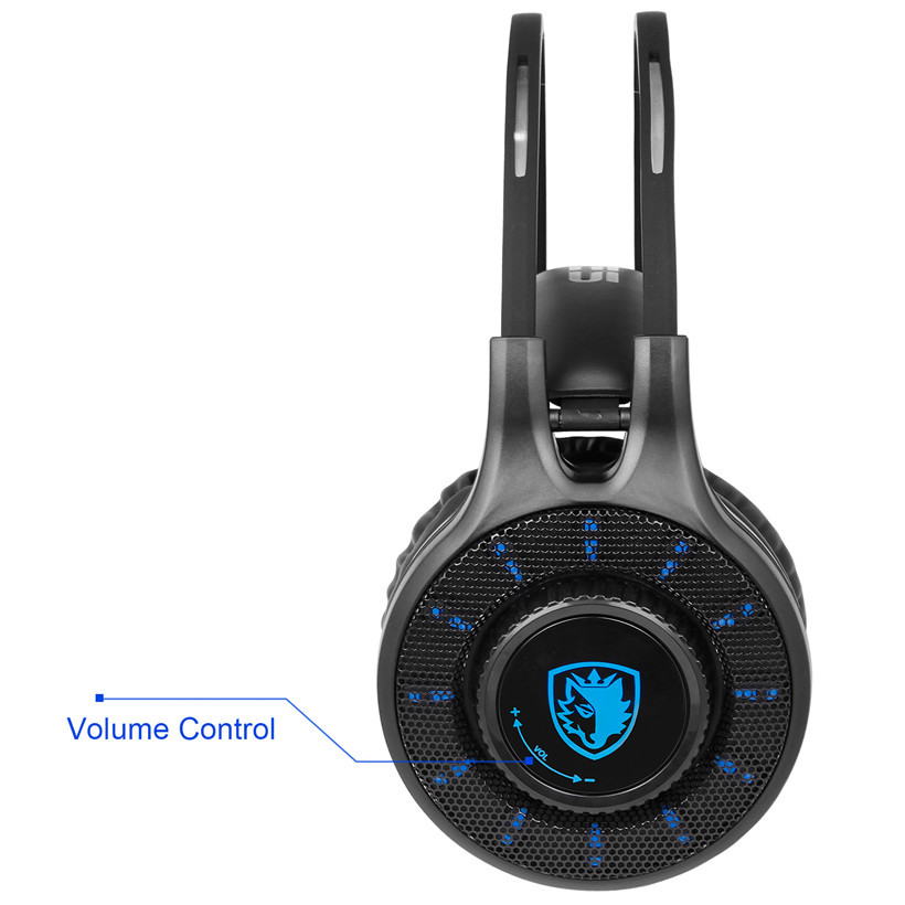 Sades SA936 3.5mm Wired Gaming Headset 2016 New Xbox One Gaming Headphones With Microphone for PS4 PC Laptop Mac iPad Mp3 Phone